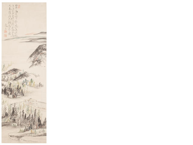 Ike no Taiga (1723-1776) Distant landscape and bower
