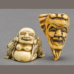 Two ivory netsuke<BR />Edo period
