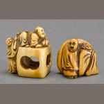 Two ivory figural netsuke<BR />Edo period, 17th/18th century