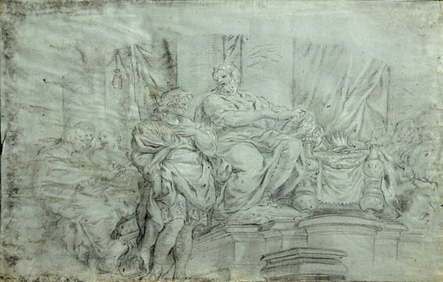 Circle of Pietro da Cortona (Cortona 1596-1669 Rome) Studies of frescoes in the Pitti Palace, Florence (a group of three) each 11 x 16 5/16in unframed