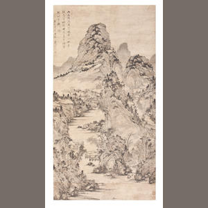 Song Xu (1525 - 1607) Mountain Streams After Rain, 1591