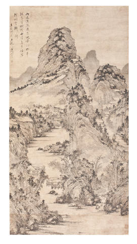 Song Xu (1525-1607) Mountain Streams After Rain, 1591