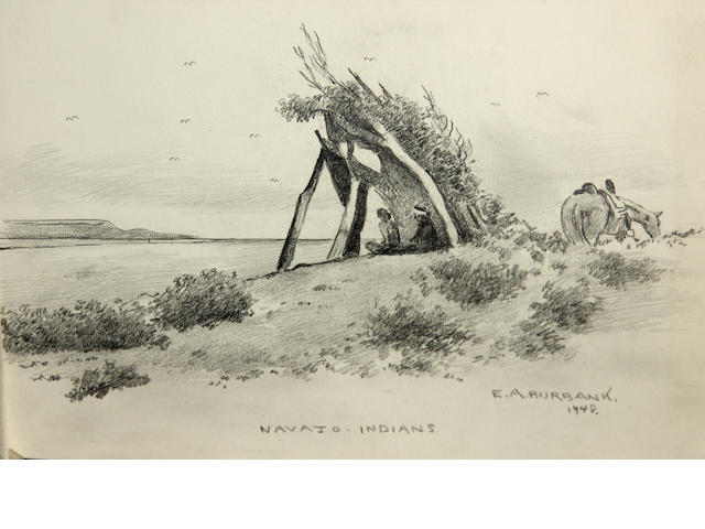 Eldridge Ayer Burbank (American, 1858-1949) Navajo Indians, 1948 7 3/4 x 11 3/4in