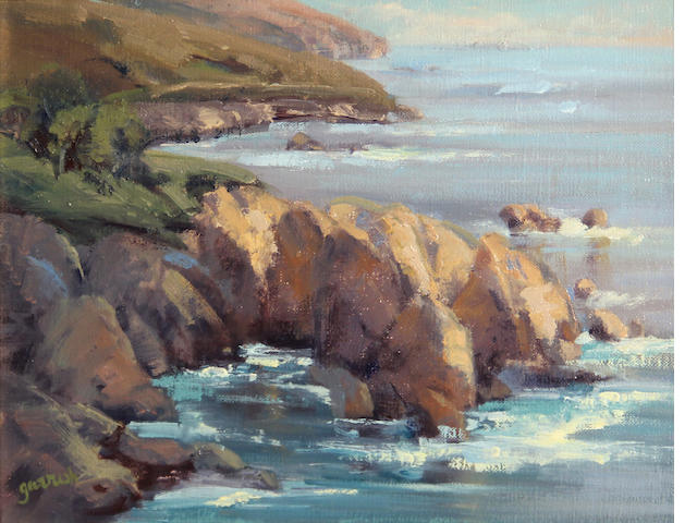 Mary Garrish (American) Rocky point afternoon 9 x 12in