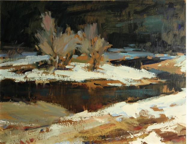 Sergei Bongart (Russian/American, 1918-1985) Winter landscape, 1961 16 x 20 3/4in