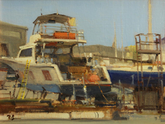 Brian Blood (American, born 1962) Sunday at the Boatworks, 2006 11 x 14in