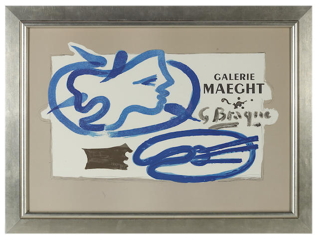 Georges Braque (French, 1882-1963); Poster for Galerie Maeght;