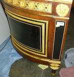 "A fine Louis XVI style gilt bronze mounted acajou moucheté and ebonized commode ""aux tourterelles"" <BR />after a model by J. Stockel and G. Benneman<BR />fourth quarter 19th century"