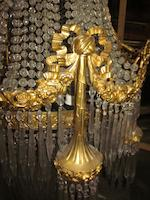 "A Neoclassical style gilt-bronze and cut glass twenty-one-light chandelier ""en corbeille""<BR />circa 1900"