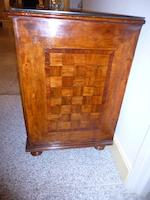 A South German Baroque walnut parquetry three-drawer commode<BR />circa 1750