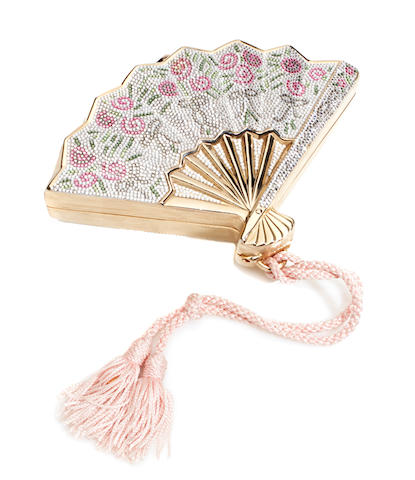 A multi-crystal fan purse, Judith Leiber