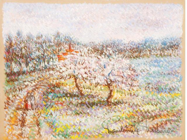 Paulémile Pissarro (1884-1972) Les deux pommiers 9 5/8 x 12 1/4in.