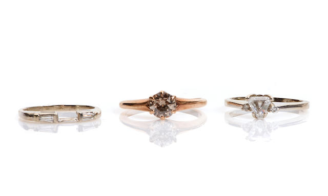 A group of three rings