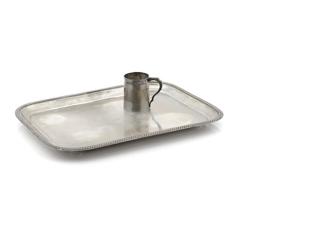 An Edward VII  sterling silver rectangular footed tray by Herbert Bushell, Birmingham,  1901