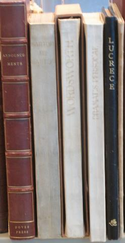DOVES PRESS. 5 titles printed at the Doves Press, plus a collection of announcements, comprising: