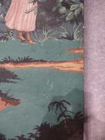 "A French five-panel wallpaper screen, ""Les Monuments de Paris""<BR />after a design by Jean Broc, Dufour and Leroy manufacturer"