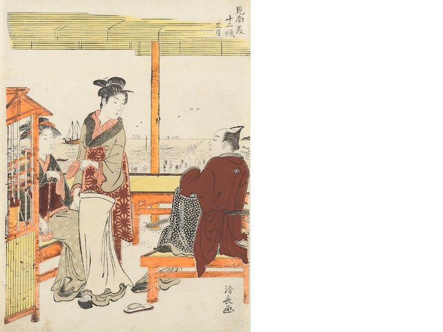 Torii Kiyonaga (1752–1815)<BR />One woodblock print