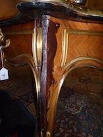 A Louis XV style gilt bronze mounted kingwood bureau plat <BR />late 19th century