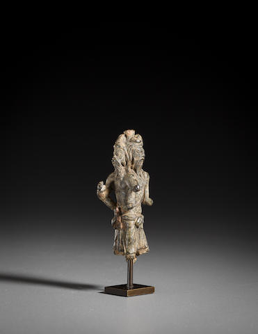 A copper alloy three-sided Shaivite figural group Ancient Region of Gandhara, 2nd/3rd century