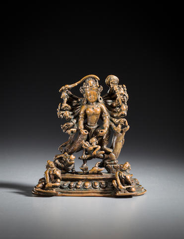 ***Catalogued by Julian-Edit*** Copper Durga, Nepal, 14th century