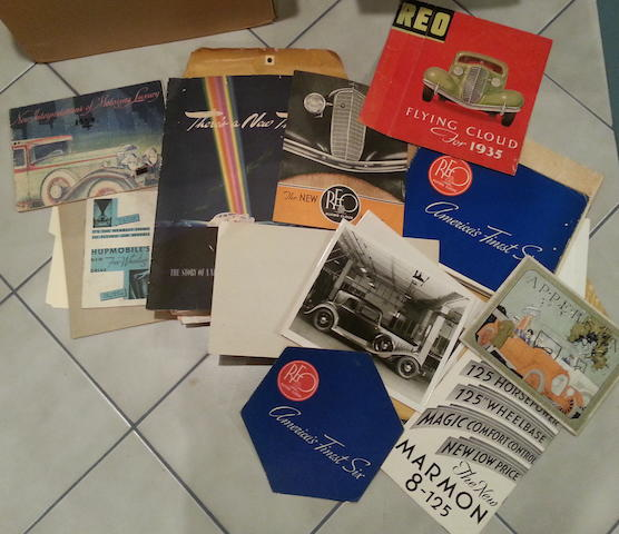 A large assortment of original pre-war Sales Literature and Clippings,