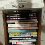 Box of hardcover automotive books, various,