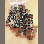 A large Assortment of Vintage Accessory Leather Key Chains and Fobs - mixed marques,