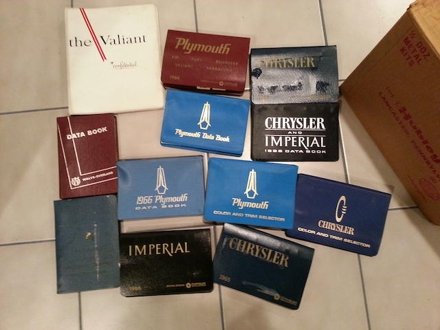 A selection of 1960s Chrysler Salesman Data Books,