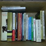A grouping of various automotive books,