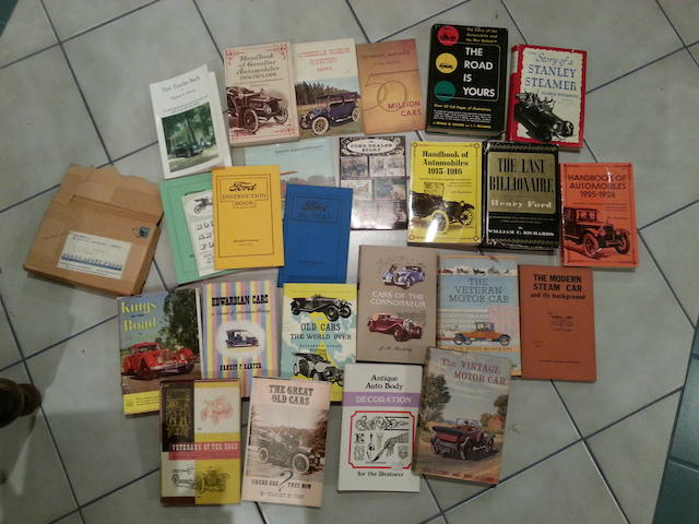 A collection of automotive titles,