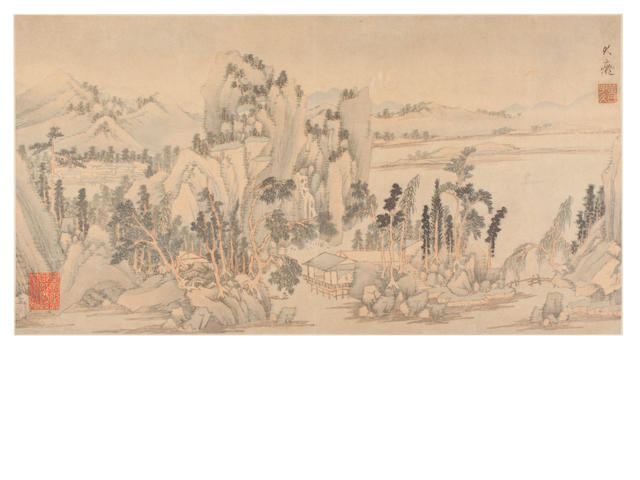 After Huang Gongwang (1269-1354) Album of Eight Leaves