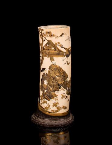 Shibayama tusk vase