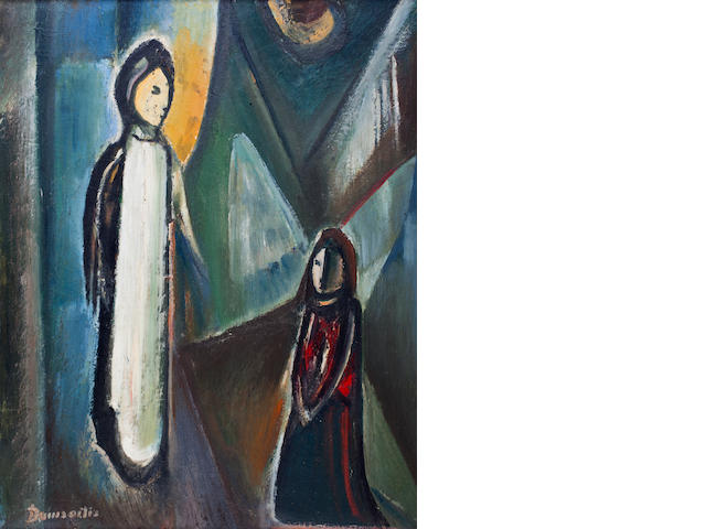 Pranas Domsaitis (South African, 1880-1965) The Life of Christ, triptych one (38 x 29in).; the others (34 x 26in).