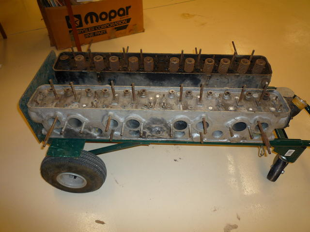 Rolls Royce Phantom Cylinder Head, no valves, water outlet attached, evidence of crack repair,