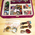 A fine assortment of rare automotive jewlery,