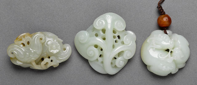 Three nephrite carvings