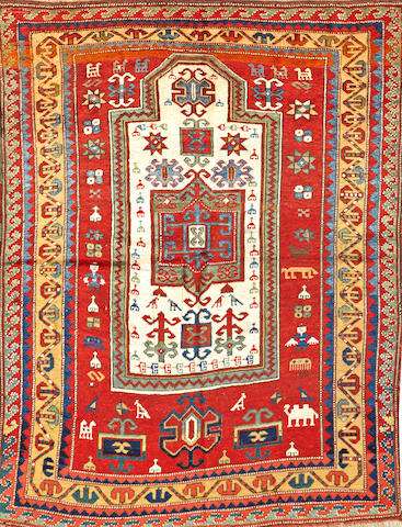 A Kazak rug Caucasus size approximately 4ft. 2in. x 5ft. 6in.