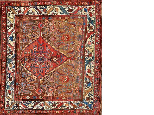 A Bidjar Sampler Northwest Persia size approximately 4ft. x 4ft. 8in.
