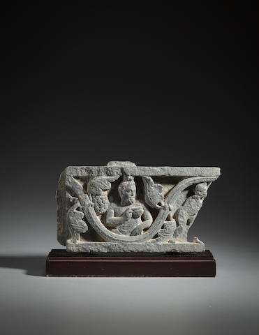 A schist relief panel of Bacchus Ancient Region of Gandhara, 1st/2nd century