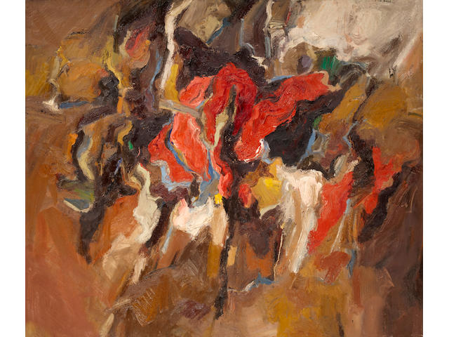 Robert Irwin (born 1928) The Lucky U, 1959 70 1/4 x 83 1/4in
