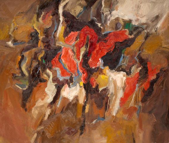 Robert Irwin (born 1928) The Lucky U, 1959 70 1/4 x 83 1/4in (178.4 x 211.5cm)