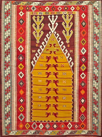 A Turkish kilim Turkey size approximately 4ft. 2in. x 6ft.