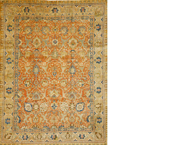 A Tabriz carpet  Northwest Persia size approximately 7ft. 1in. x 9ft. 8in.