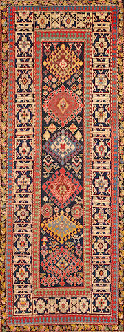 A Shirvan rug  Caucasus size approximately 3ft. 7in. x 9ft. 7in.