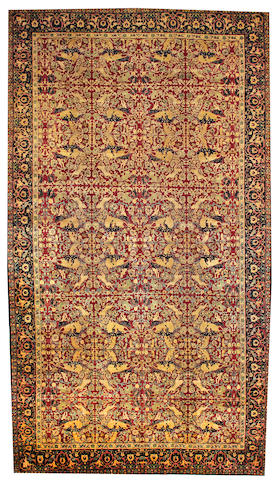 An Agra carpet India size approximately 10ft. 9in. x 19ft. 9in.