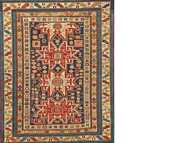 A Shirvan Lesghi rug  Caucasus size approximately 4ft. 1in. x 5ft.