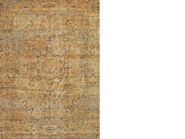 A Lavar Kerman carpet  South Central Persia size approximately 8ft. 10in. x 12ft. 2in.
