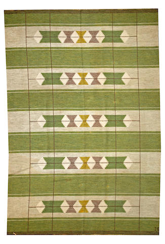A Swedish carpet  Sweden size approximately 8ft. x 11ft. 8in.
