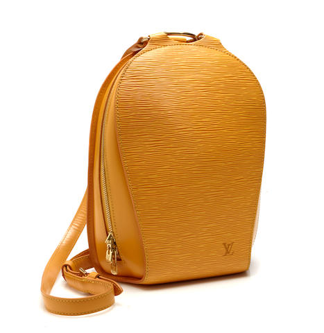 A Louis Vuitton yellow Epi Mabillion backpack