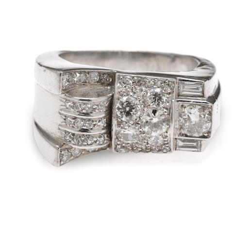 A late retro diamond ring,